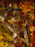 Painted Bas Relief of Hanuman Photographic Print by Martin Gray