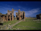 Ruins of the Lindisfarne Monastery and Church Photographic Print by Martin Gray