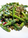 Popular Chinese Dish- Green Beans Stirfried with Pork, at Shanghai King Mang Jade Garden Restaurant Photographic Print by  xPacifica