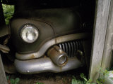 Headlight and Rusted Bumper of a 1951 Car Peer from a Barn Photographic Print by Scott Sroka