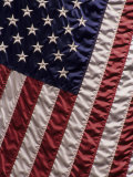 Close-up of the American Flag Reproduction photographique par Paul Damien