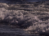 Frothy Wave Spills onto the Shore of Lake Superior Photographic Print by Paul Damien