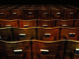 Prayer Books in Rows of Pews in Rodef Shaloma Synagogue Photographic Print by Lynn Johnson