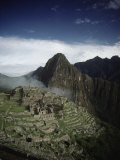 Ruins and Remains of Machu Picchu City and the Machu Picchu Peak Photographic Print by Martin Gray