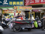 Mobile Food Cart in the Streets of Taipei Photographic Print by Eightfish
