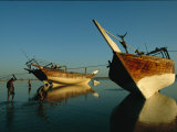 Dhows Lie Beached Near Ra's Al Hadd in Oman Photographic Print by Michael S. Yamashita