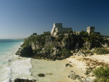 Temple of Kukulcan, or El Castillo, on the Caribbean Sea Coast Photographic Print by Martin Gray