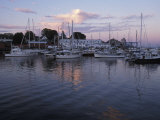 Harbor at Rockland, Maine at Sunset Photographic Print by Scott Warren