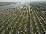 Solar Panels on Brackets Arrayed across Waldpolenz Solar Park Photographic Print by Michael Melford