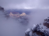 Winter Mist over a Snow-Blanketed Grand Canyon Landscape Photographic Print by Michael Nichols