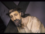 Wood Carving of Christ Carrying His Cross Photographic Print by Martin Gray