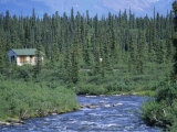 Brushkana Creek and Cabin Photographic Print by Rich Reid