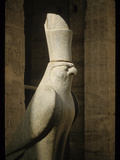 Stone Sculpture of Horus Photographic Print by Martin Gray