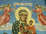 Mosaic Rendering of the Famous Black Madonna of Czestochowa Icon Photographic Print by Martin Gray