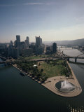 Pittsburgh and the Confluence of the Monongahela and Allegheny Rivers Fotografisk trykk av Lynn Johnson