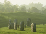 People Walk Among the Stones of Avebury Circle Photographic Print by Martin Gray