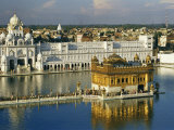 Temple Complex with the 16Th-Century Golden Temple at Amritsar Photographic Print by Martin Gray