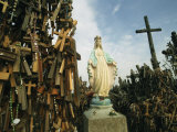 Statue of Mary on the Hill of Crosses Photographic Print by Martin Gray