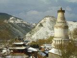 Wutai Shan, Buddhist Pilgrimage Site and Monasteries in Taiyuan Photographic Print by Martin Gray