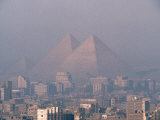 Pyramids at Giza and Cairo in the Foreground Photographic Print by Martin Gray