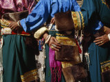 Local Tibetan People Wearing Traditional Clothing, Jewelry and Fur Photographic Print by  xPacifica