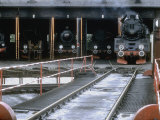 Polish National Railways Locomotive Ol49-111 Exits the Roundhouse Photographic Print by Kent Kobersteen