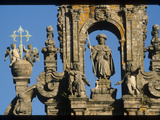 Stone Sculpture of Saint James on the Cathedral in Compostela Photographic Print by Martin Gray