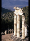 Tholos at the Athena Pronaia Sanctuary in Delphi Photographic Print by Martin Gray