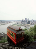 Cable Car to Mount Washington Overlooking Pittsburgh Photographic Print by Lynn Johnson