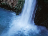 Mooney Falls Plunging 200 Feet into Havasu Canyon Photographic Print by Michael Nichols