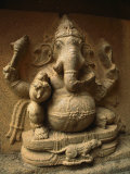 Stone Relief Carving of Ganesh Photographic Print by Martin Gray