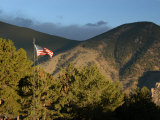 American Flag Flies High over the Mountains in Red Lodge, Montana Photographic Print by Stacy Gold