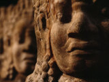 Close-up of Statues of Deities Lining the Road Leading to the Temple Photographic Print by  xPacifica