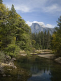 Half Dome Rises Beyond the Merced River Photographic Print by Richard Nowitz