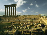 Ruins of the Jupiter Temple in Baalbek Photographic Print by Martin Gray