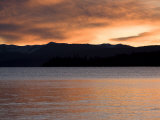 Sunset and Mountains at Lake Tahoe Photographic Print by Richard Nowitz