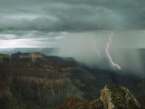 Lightning Arcs into the Grand Canyon's Depths Near Point Sublime Photographic Print by Michael Nichols