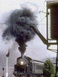 Ex-Chicago and North Western 4-6-0 1385, Approaches the Water Tank Fotografie-Druck von Kent Kobersteen