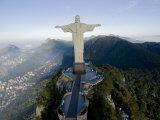 Christ the Redeemer Statue Above Rio De Janeiro Photographie par Joel Sartore