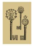 Antique Keys I Prints by  Vision Studio