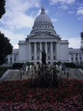 State Capitol Building in Madison Photographic Print by Paul Damien