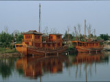 Old Style Boats Rest on the Grand Canal Outside of Hangzhou Photographic Print by Michael S. Yamashita