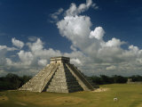 El Castillo or the Temple of Kukulcan, the Feathered Serpent Photographic Print by Martin Gray