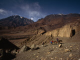 Trekkers Walk for Weeks from Pokkra to Mustang Photographic Print by Lynn Johnson