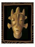 Máscara africana II Lámina giclée de primera calidad por Chariklia Zarris