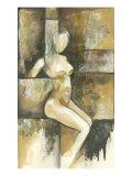 Mini- Contemporary Seated Nude I Premium Giclee Print by Jennifer Goldberger