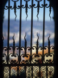 Detail of Wrought Iron Work at the Cathedral of Notre Dame Photographic Print by Martin Gray