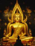 Phra Phuttha Chinnarat Buddha Inside Wat Phra Sri Rattana Mahathat Photographic Print by Martin Gray