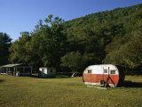 Hunter's Trailer at Hick's Run Photographic Print by Raymond Gehman
