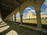 Courtyard of the Great Monastery of Izamal Photographic Print by Martin Gray